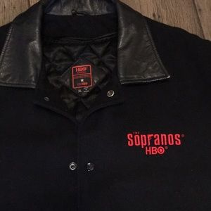 Other - The Sopranos HBO Official leather and wool jacket